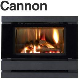 Cannon Fitzroy Black Inbuilt Double Glass Power Flue Included - FITZIB-PDEXB