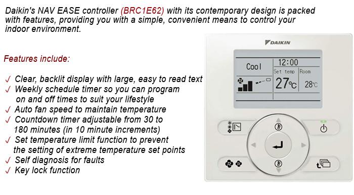 Daikin BRC1E62 Standard Controller