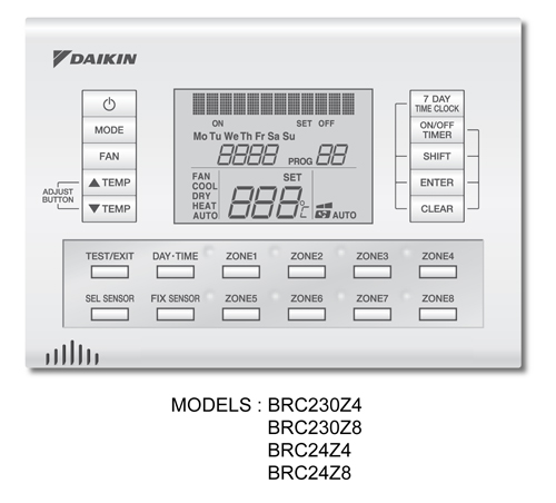 Daikin Brc24z4 Zone Controller Up To 4 Zones Energy