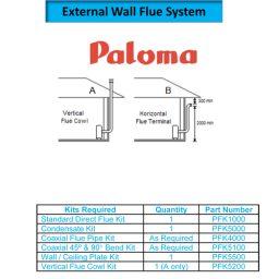 Paloma PFK5200 - Vertical Flue Cowl Assy