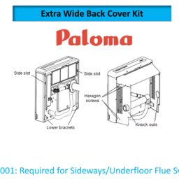 Paloma PWSK001 Wider Back Spacer Kit PRS150/250
