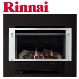 Rinnai Slimfire 252 - S/Steel on Black Fascia