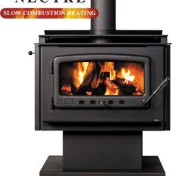 Nectre Mega NMGA30PWF Wood heater - Pedestal & Fan