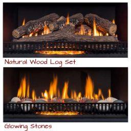 Rinnai 650 Log Heater w Stones