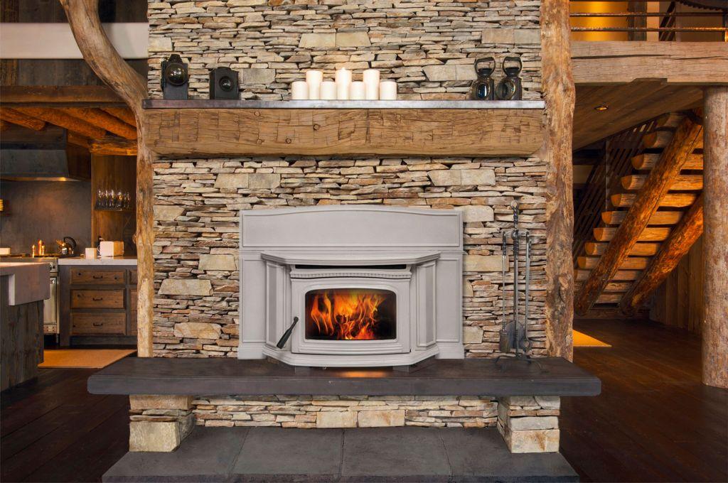 Alderlea T5 Inbuilt Wood Heater Antique White