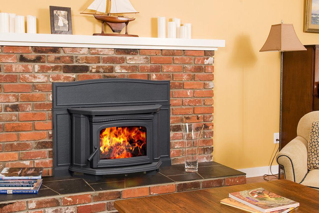 Alderlea T5 Inbuilt wood heater Black