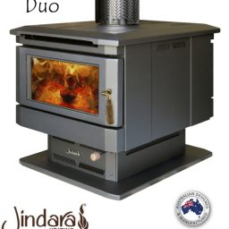 Duo-Double sided wood heater