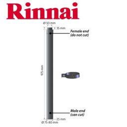 Rinnai Flue Pipe 900mm ESPIPE900 for Rinnai Energysavers & Log Fires
