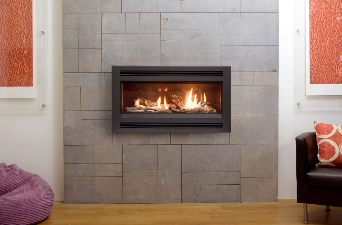 Esprit Gas Log Fire with Louvered Fascia