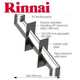Rinnai Thru-wall Twin Skin Flue Kit – Suits Sapphire & Slimfire 252