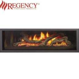 Regency GF1500L Logs Gas Heater GreenFire – Clean Edge Black Fascia