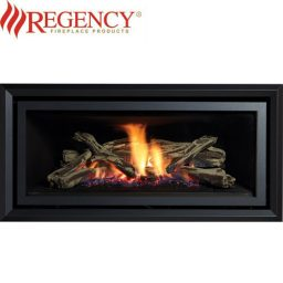 Regency GF1500L Logs Gas Heater GreenFire – Black Flat Fascia