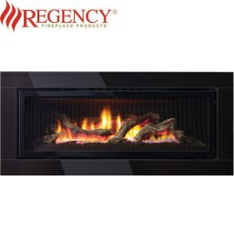 Regency GF1500L Logs Gas Heater GreenFire – Premium Black Glass Fascia