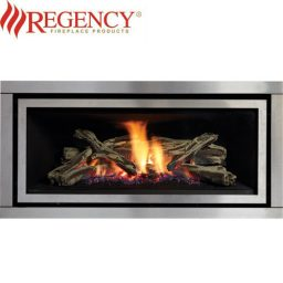 Regency GF1500L Logs Gas Heater GreenFire – S/Steel Brushed Fascia