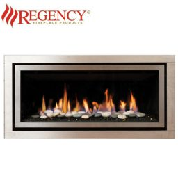 Regency GF900C (Crystals & Stones) GreenFire – S/Steel Brushed Fascia