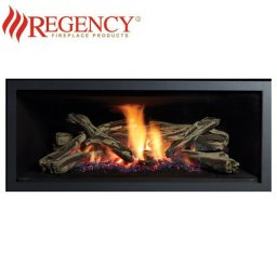 Regency GF900L GreenFire – Clean Edge Black Fascia & Logs