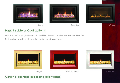 Enviro high efficient gas fireplace energy hothouse for Efficient heating options