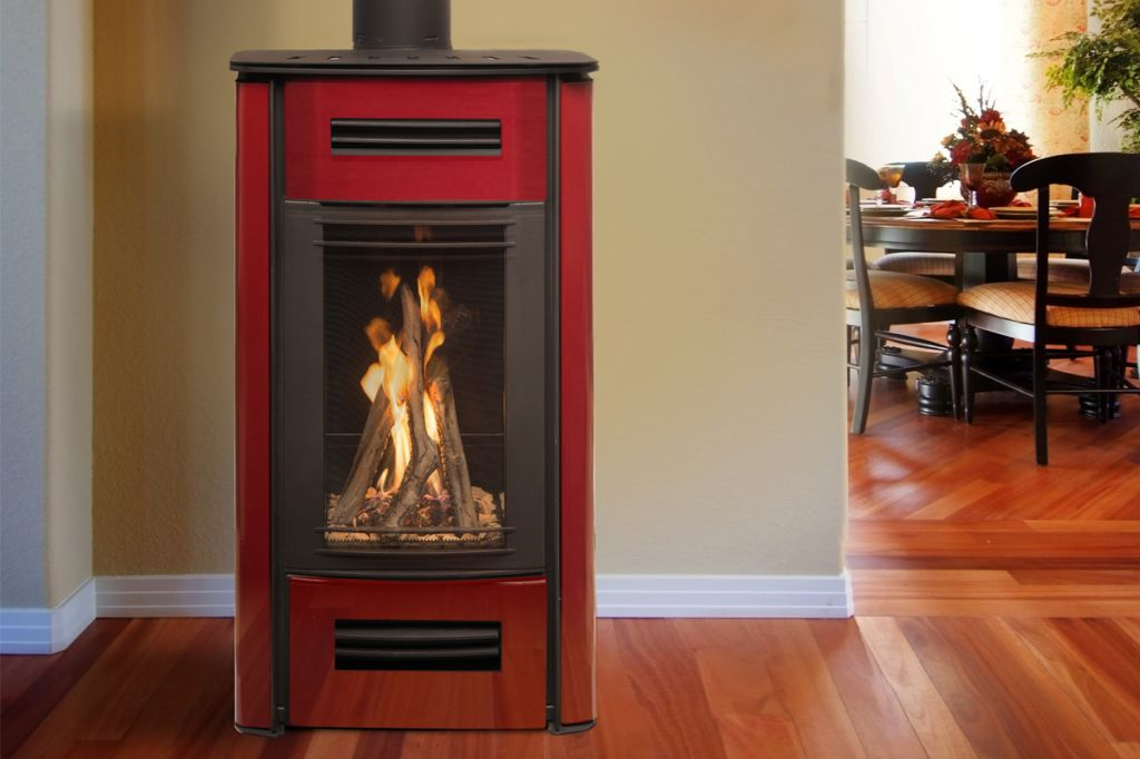Mirage Freestanding Gas Log Fire Energy Hothouse
