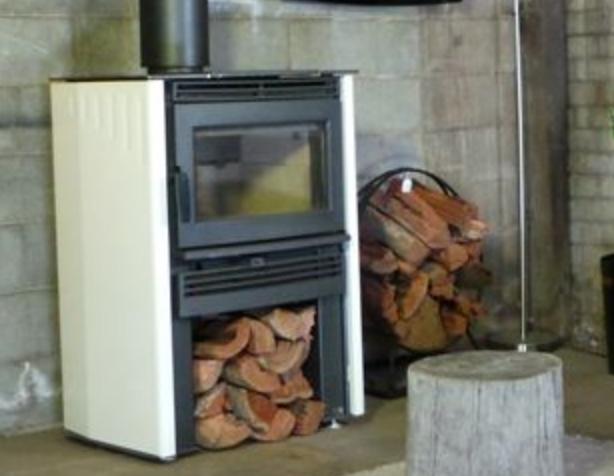 Neo wood heater - Ivory