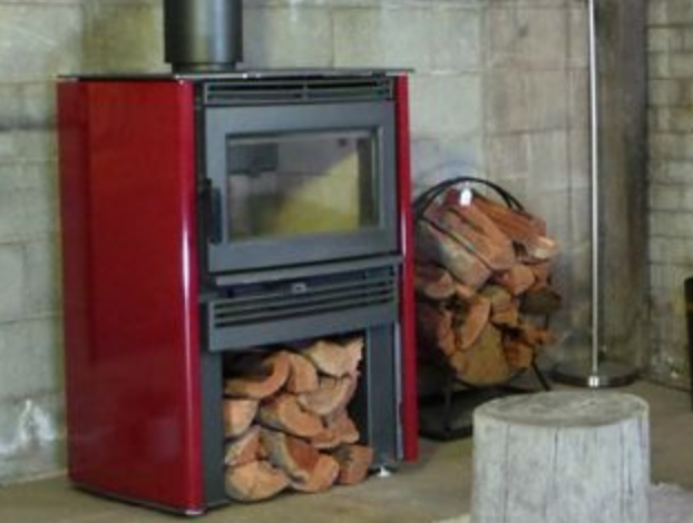 Neo wood heater - Red