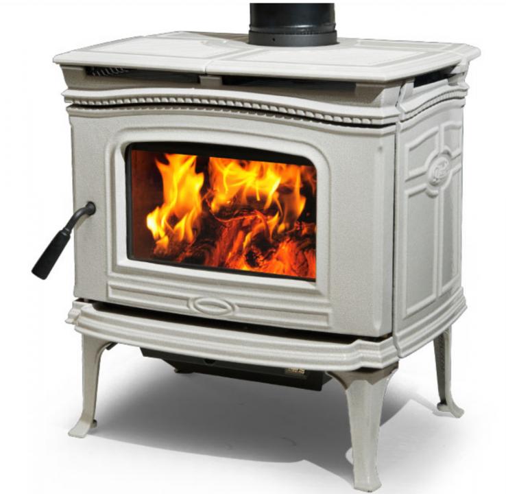 Alderlea T4 Wood Heater Antique White Enamel