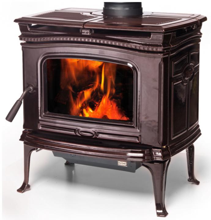 Alderlea T4 Wood Heater Majolica Brown Enamel