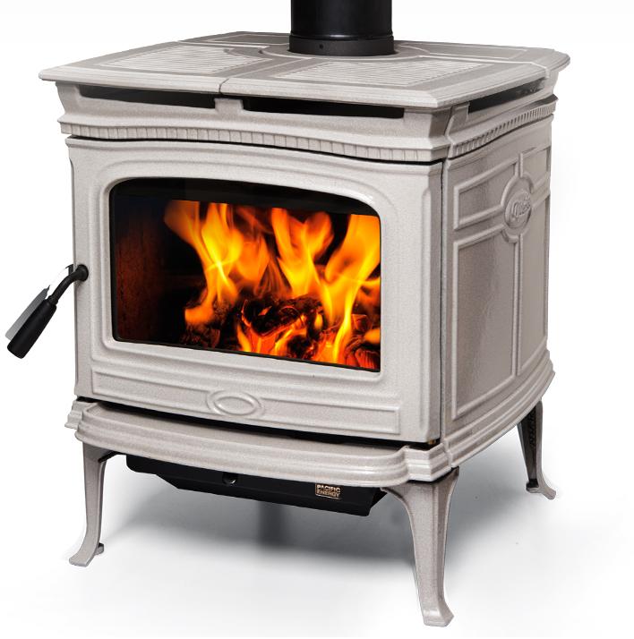 Alderlea T5 Wood Heater - Antique White Enamel