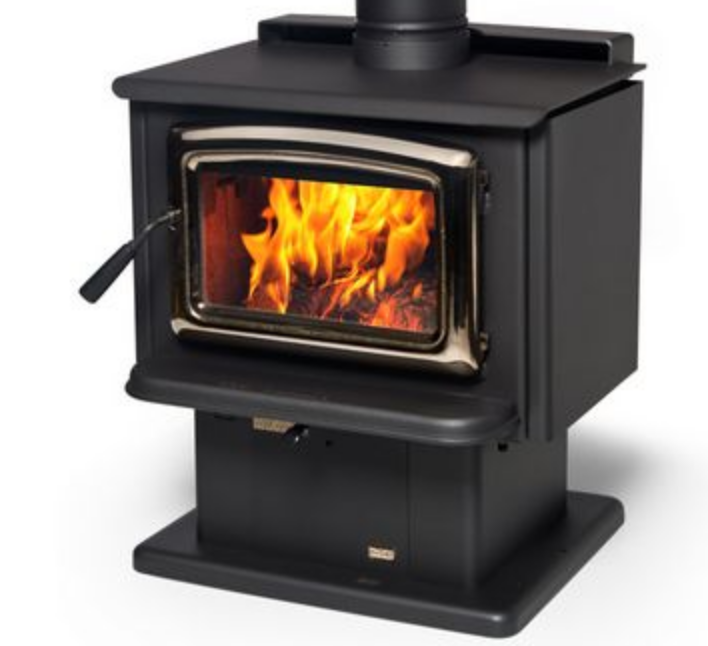 Super wood heater on Pedestal