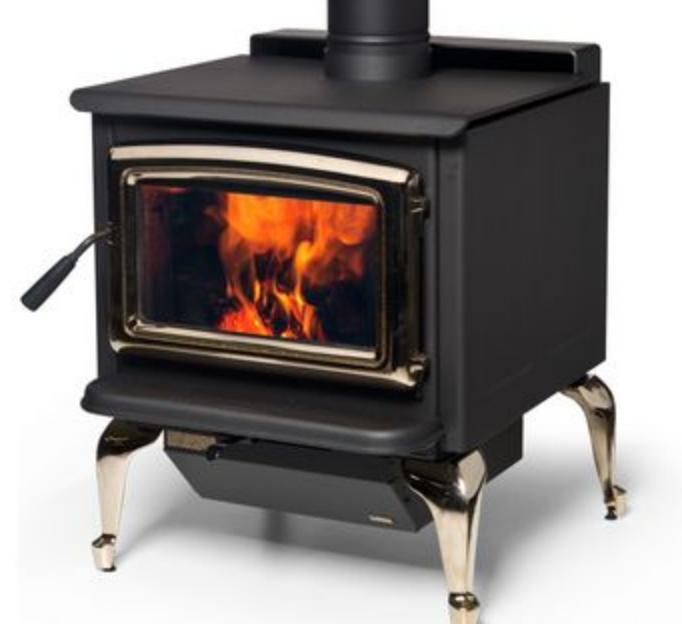 Super wood heater on legs